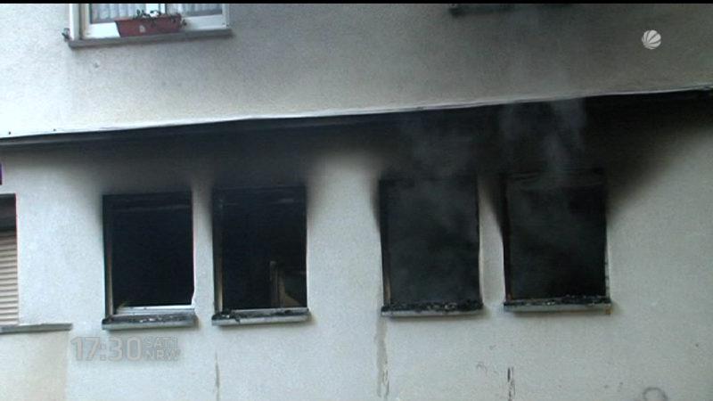 Zwei Mädchen nach Feuer in Bochum gerettet (Foto: SAT.1 NRW)