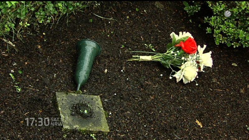 Randale auf Friedhof (Foto: SAT.1 NRW)