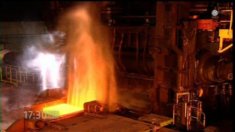Wirtschaftsministerium plant Stahlgipfel (Foto: SAT.1 NRW)