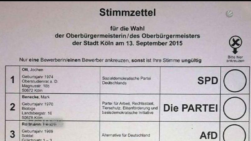 Stimmwahlzettel Ärger in Köln (Foto: SAT.1 NRW)