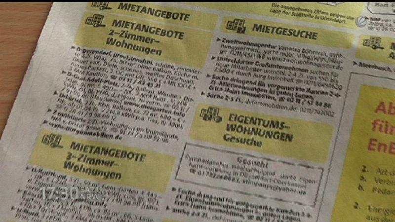 Mieterbund fordert Verbot von Wohnungsleerständen (Foto: SAT.1 NRW)