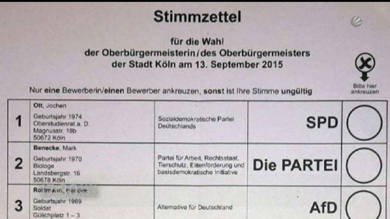 Neues von der Pannen-Wahl (Foto: SAT.1 NRW)