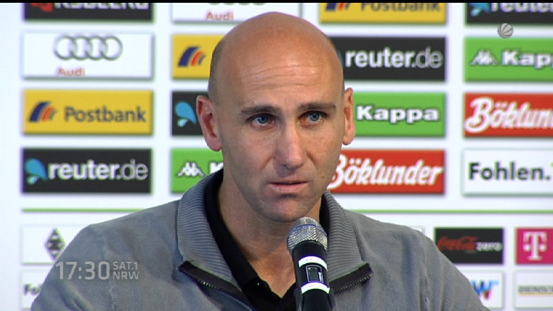 Erste Pressekonferenz mit neuem Gladbach-Trainer (Foto: SAT.1 NRW)