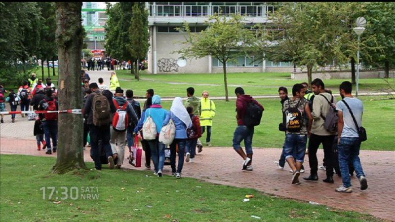 Was hat NRW vom Flüchtlingsgipfel (Foto: SAT.1 NRW)