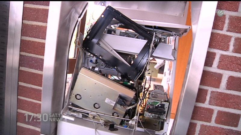 Schon wieder Geldautomat gesprengt (Foto: SAT.1 NRW)