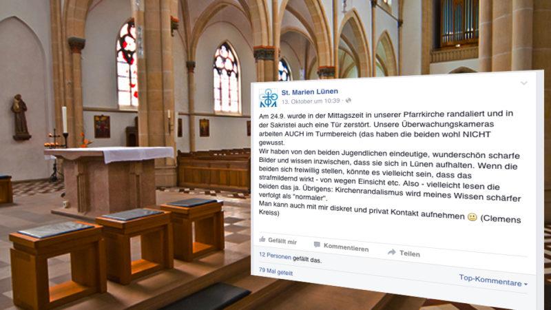 Facebooksuche nach Kirchen-Vandalen (Foto: St.Marien Lünen)