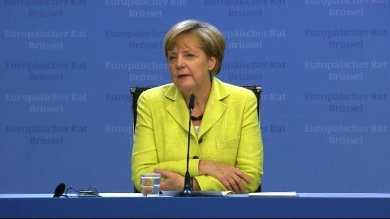 Gegenwind für Merkel (Foto: SAT.1 NRW)