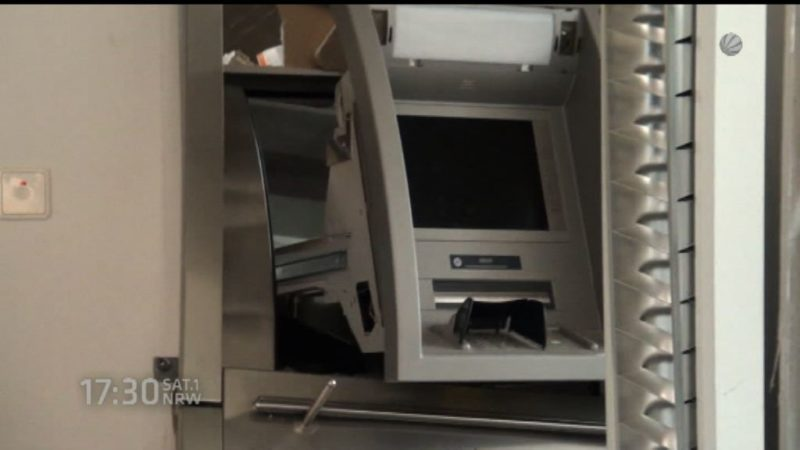 Automat in Mönchengladbach gesprengt (Foto: SAT.1 NRW)
