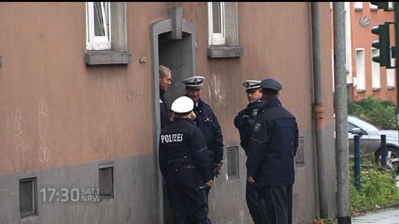 Razzia in einem Roma Haus in Essen (Foto: SAT.1 NRW)
