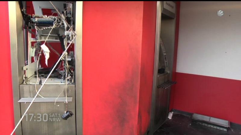 Geldautomat Nummer 35 gesprengt (Foto: SAT.1 NRW)