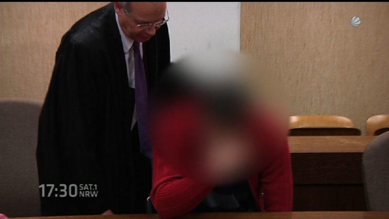 REWE-Erpresser vor Gericht (Foto: SAT.1 NRW)