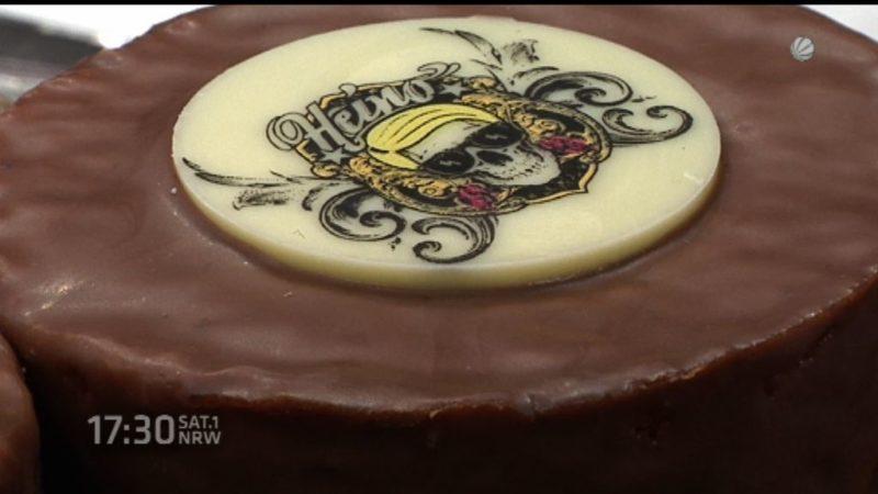Heino stellt in Köln neue Torte vor (Foto: SAT.1 NRW)