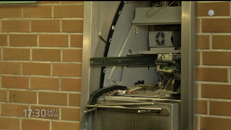 Wieder Geldautomat gesprengt - FDP übt Kritik (Foto: SAT.1 NRW)