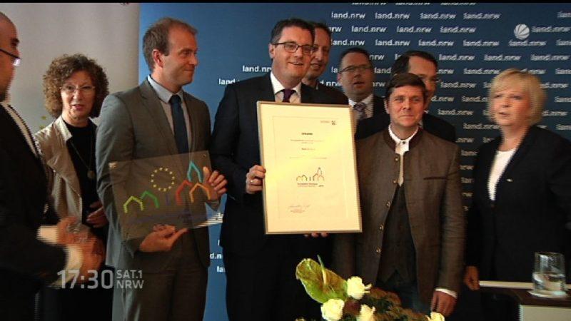 Städte werden als Europaaktive Kommune ausgezeichnet (Foto: SAT.1 NRW)