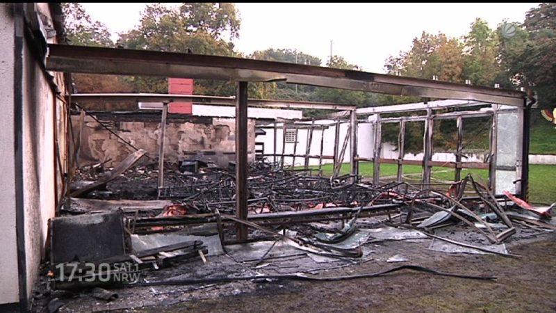 Feuer im Schützenheim in Dortmund (Foto: SAT.1 NRW)