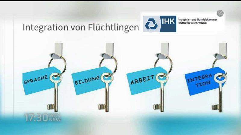 IHK Umfrage zum Thema Arbeit für Flüchtlinge (Foto: SAT.1 NRW)