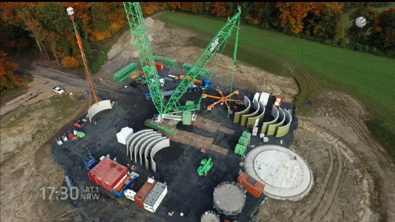 Neue Riesen-Windkraftanlage in Lünen (Foto: SAT.1 NRW)