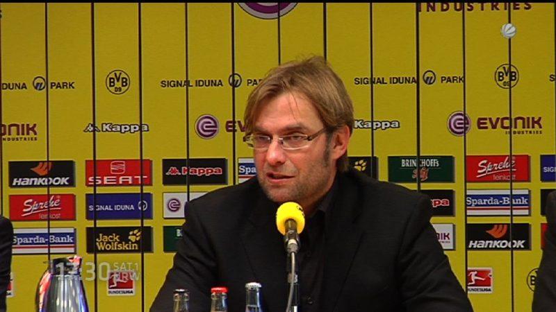 Jürgen Klopp wird Trainer vom FC Liverpool (Foto: SAT.1 NRW)