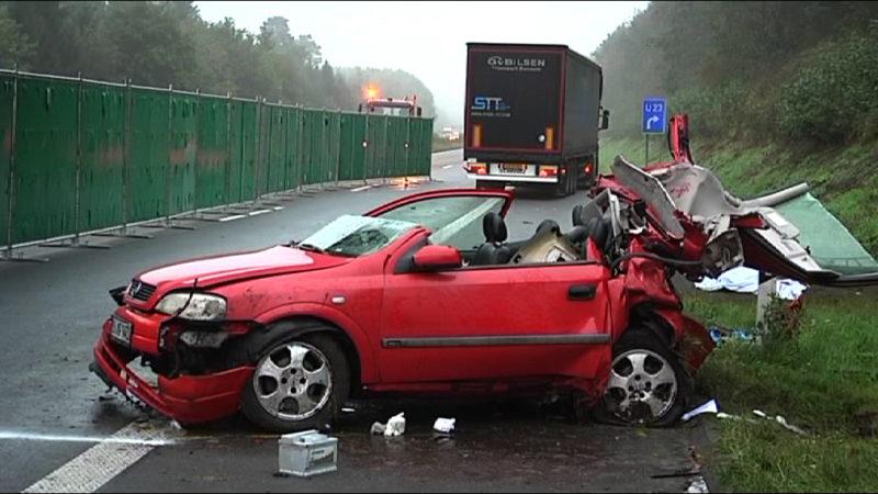 Tödlicher Unfall auf der A31 (Foto: SAT.1 NRW)