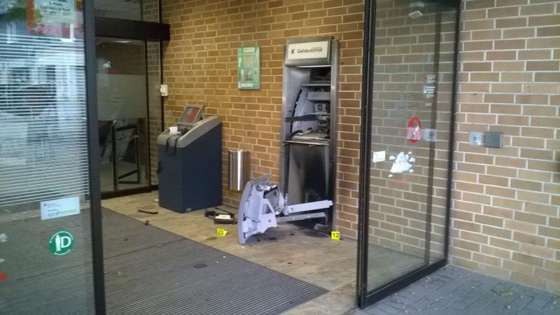 Gelsenkirchen – Geldautomat gesprengt (Foto: SAT.1 NRW)