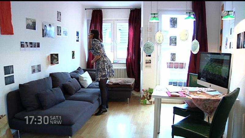 Kunst in der Wohnung (Foto: SAT.1 NRW)