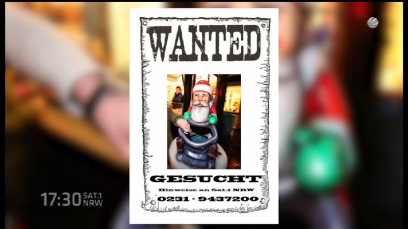 Weihnachtsmann geklaut (Foto: SAT.1 NRW)