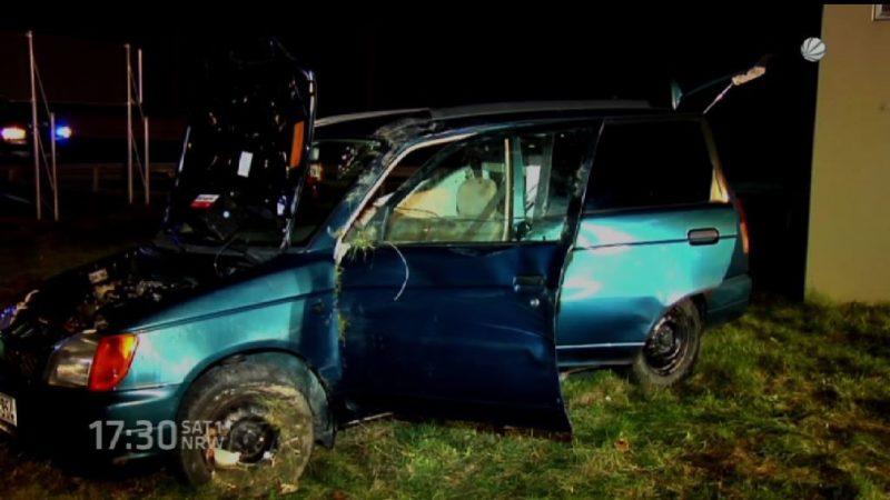 Schwangere bei Autounfall verletzt (Foto: SAT.1 NRW)