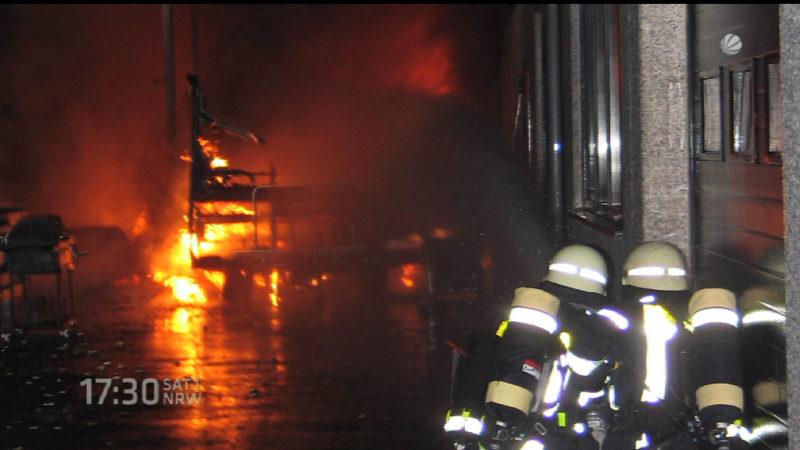 Explosion in Hattingen (Foto: SAT.1 NRW)