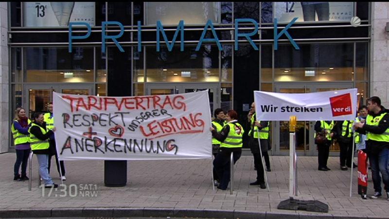 Streik bei Primark in Dortmund (Foto: SAT.1 NRW)