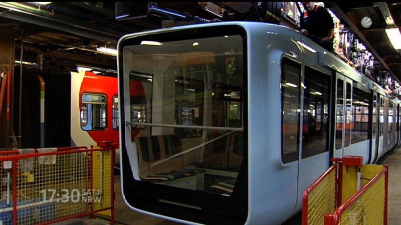 Neuer Schwebebahn-Wagen in Wuppertal (Foto: SAT.1 NRW)
