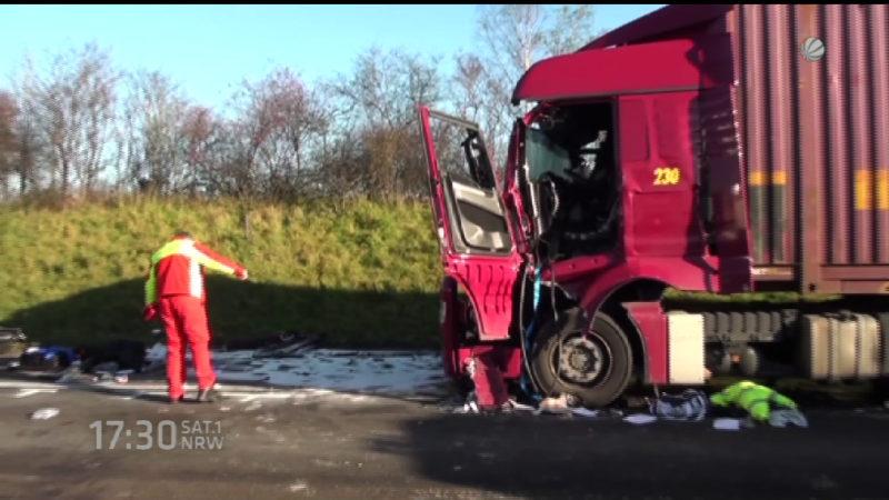 Unfälle auf der A61 (Foto: SAT.1 NRW)