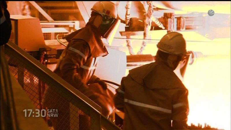 Duisburg startet Wasserstoff-Hochofen (Foto: SAT.1 NRW)
