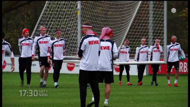 1. FC Köln bittet zum Karnevalstraining (Foto: SAT.1 NRW)