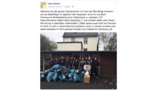 Gute Aktion oder Hetze gegen Flüchtlinge? (Foto: facebook.com/uwe.steiner.31)