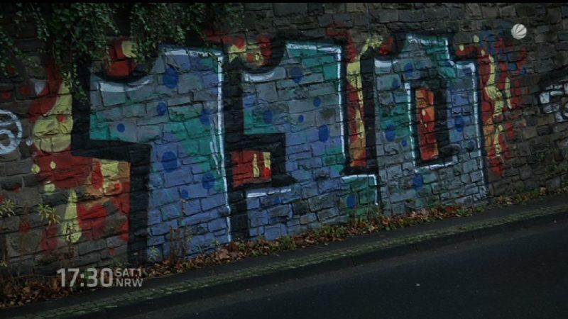 110-Graffiti in Bonn (Foto: SAT.1 NRW)