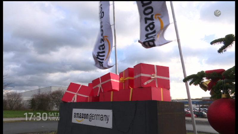 Streiks bei Amazon (Foto: SAT.1 NRW)