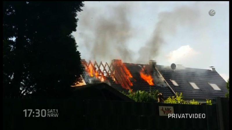Schimmel nach Brand im Nachbarhaus (Foto: SAT.1 NRW)
