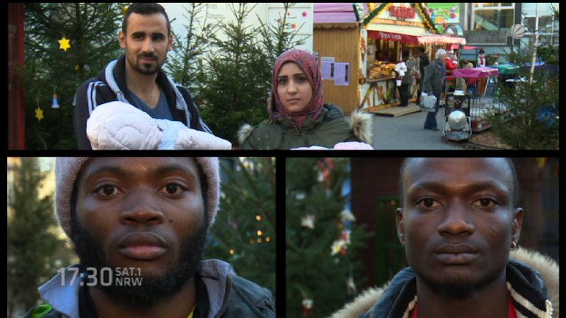 Flüchtlinge sagen Danke (Foto: SAT.1 NRW)