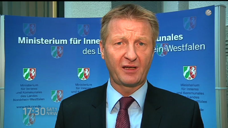 NRW-Innenminister Jäger zu Entlastungen bei Kommunen (Foto: SAT.1 NRW)