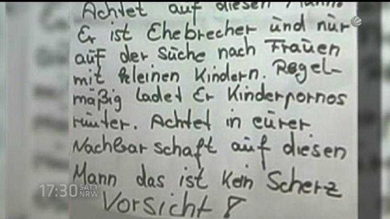 Falsche Kinderschänder-Flugzettel (Foto: SAT.1 NRW)