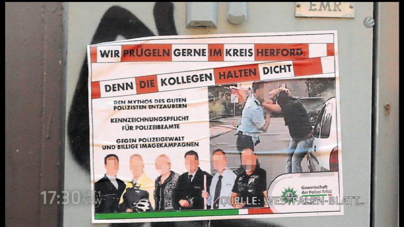 Polizisten öffentlich am Pranger (Foto: SAT.1 NRW)