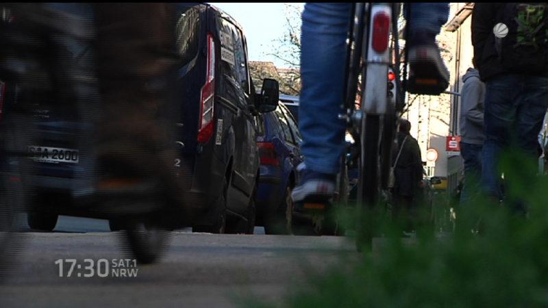 Radeln auf der Straße verboten (Foto: SAT.1 NRW)
