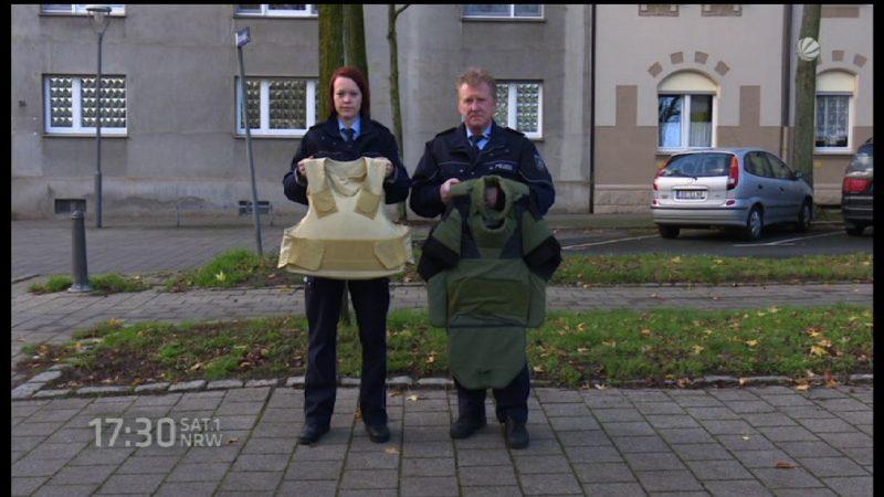 Diskussion um Schusssichere Westen der Polizei (Foto: SAT.1 NRW)