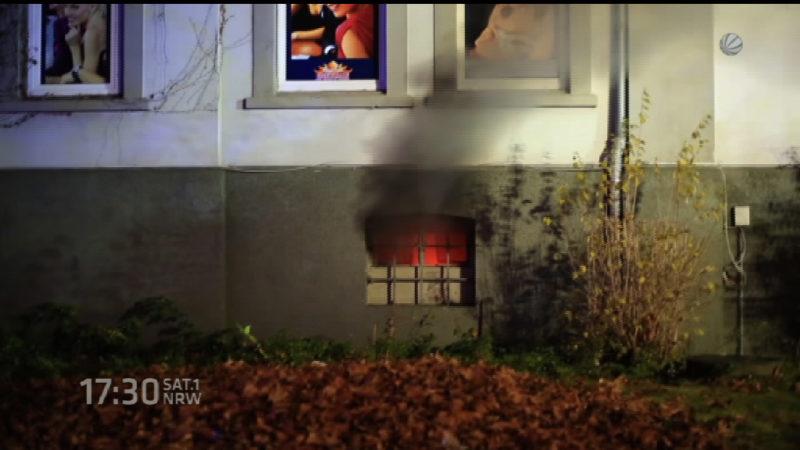 Feuer in Herten (Foto: SAT.1 NRW)