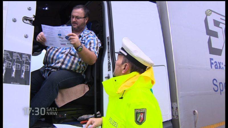 Fahrverbot für Trucker an Weihnachten (Foto: SAT.1 NRW)