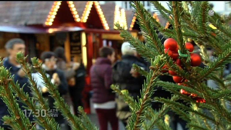 Frühlingswetter auf dem Weihnachtsmarkt (Foto: SAT.1 NRW)