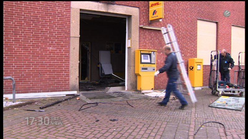 Geldautomat in Nettetal gesprengt (Foto: SAT.1 NRW)