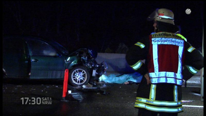 Tödlicher Unfall auf A42 (Foto: SAT.1 NRW)