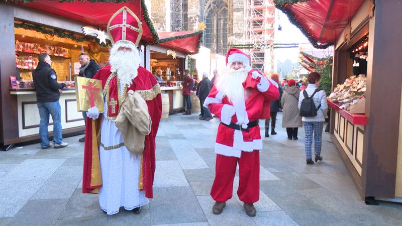 Weihnachtsmann vs. Nikolaus (Foto: SAT.1 NRW)