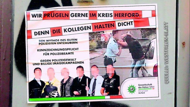 Polizisten am Pranger (Foto: Westfalen-Blatt )